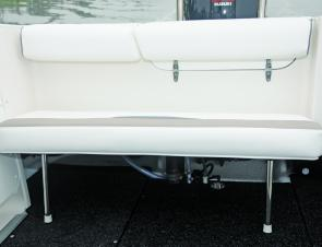 Fold-down rear bench seat also flips up for access to the batteries.