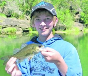Rod's son Tim, enjoyed an afternoon out with his Dad and landed this bass on the Nepean and released it to grow a lot bigger for someone else to enjoy in the future.
