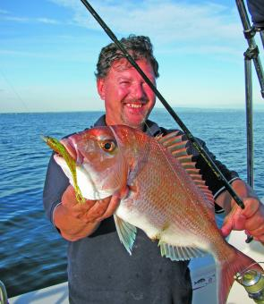 Dale McClelland displays a plump plastics caught fish - if you want to enjoy lure success be disciplined and persist!