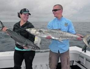 Mackerel fishing is now at its peak and the 20 and 24 fathom reefs east of Southport often fish well with lures early in the morning.