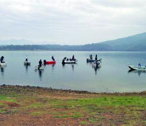 Twenty-two keen anglers turned up for the last qualifying round of the Bass Electric Series.