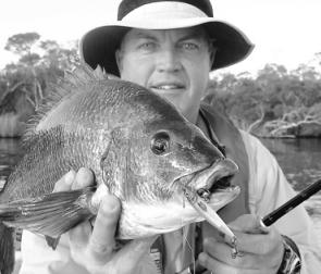Phil Smallman with another lure-crunching bream.