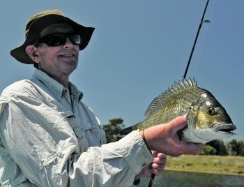 This is what the Bega River is famous for – beautiful big bream.