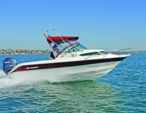 The Buccaneer 550 Classic's fine entry ensures that those aboard her enjoy both a dry and comfortable ride.