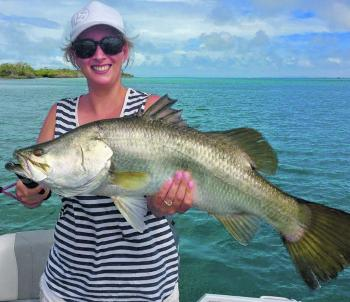Jackie landed this beautiful barra in some pretty pristine country.