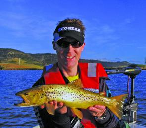 There are some good trout to be had in the still-waters close to Hobart.