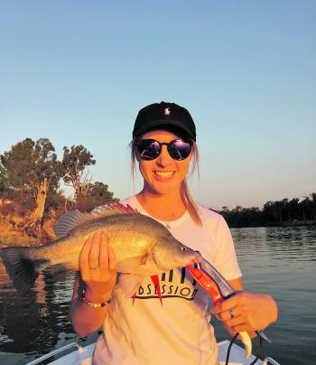 Jade Tiller with a perch taken on the troll.