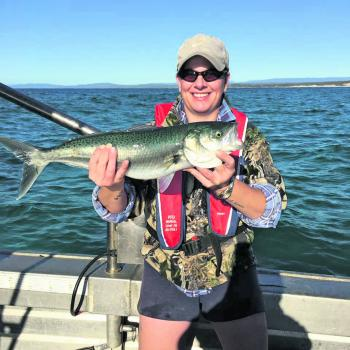 Vanessa Turley found a very nice winter salmon.