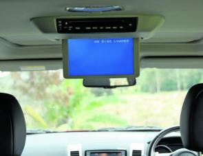 A rear DVD player can keep the youngsters occupied instead of 'are we there yet' questions.