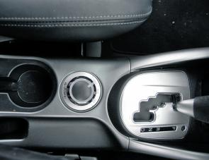 A simple console selector allows the Outlander driver the choice of two wheel or all wheel drive.