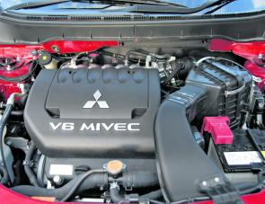 The Outlander's V6 engine is compact yet powerful and is quite reasonable on fuel consumption.