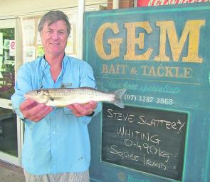 If you are keen for some whiting try using blood or beach worms around Alberton Sands, Slipping Sands, Tabby Tabby and Tipplers Island.