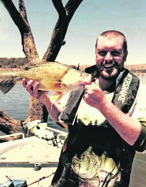Mick Maher pipped the field to win the Yamaha Cod Classic at Mulwala Reservoir with this 115cm cod.