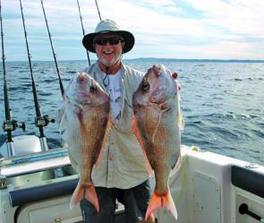 Most snapper catches have fallen to floatlines with pillies.