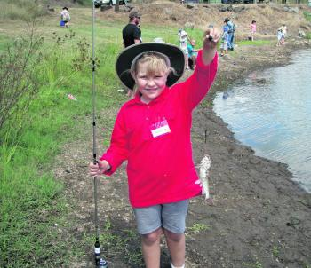 The Junior Kids Fishing Day at Biggenden was a huge hit, and every kid managed to catch a fish of some description.