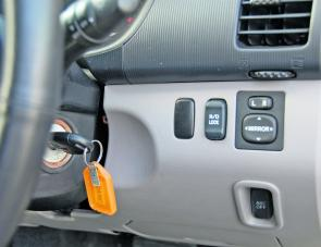 The Triton's rear diff lock can be activated instantly via the dash button.