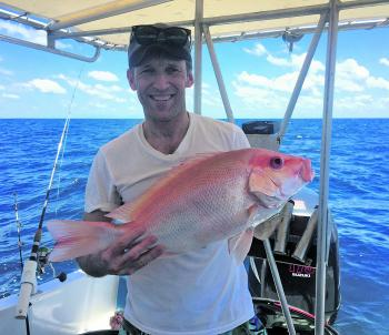 Oyvind Rotnes had a taste of reef fishing, which was one of the many experiences his son Magnus enjoyed while attending Smithfield SHS.