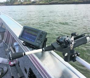 Trolling the river for many different species was made easy using the down imaging technology in the Elite 7 HDI.