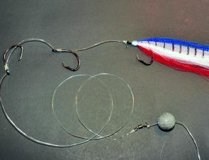 Running ball sinker set up for using PE Tackle.