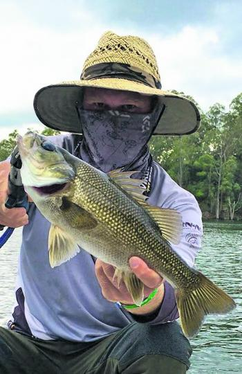David Croft picked up this solid bass during the Lake Maroon Fishing Classic.