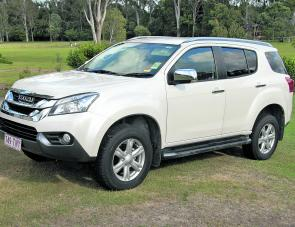 The Isuzu Mu-X looks like it should be at home in the carport or garage.