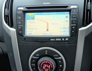 It was refreshing to find the MU-X blessed with a very user friendly Sat Nav system.
