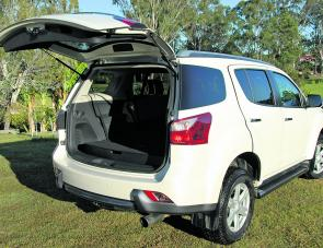 An upward opening rear door certainly makes it easy to load up the Isuzu with camping or fishing gear.