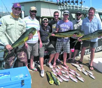 A quality mixed catch of juvenile snapper and mahimahi.