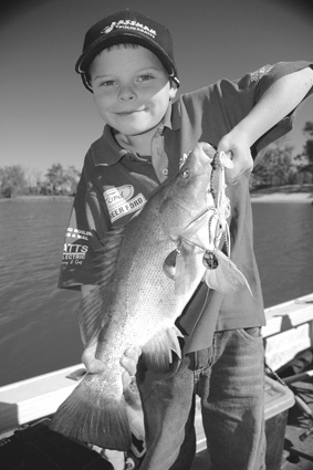 With the cod season closed until December 1, anglers will be looking to get among the goldens as the weather begins to warm. Here's young Jock Mackenzie with another golden moment.