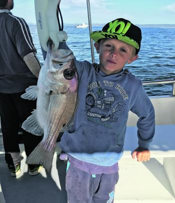 Toby smashes it again with a great pearl perch. Kids catch all the fish!