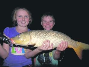 Carp are about in big numbers but that's not bothering the junior anglers.