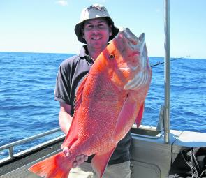 A first-timer on the Keely Rose with a cracker 14kg red.