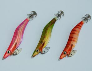A wide range of jig colours will take calamari. The author favours gold, orange, bronze and pink over greens and blues.