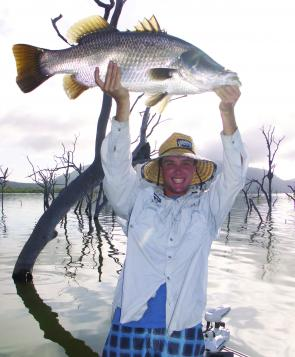 Catching a barramundi from around the trees can sometimes be a tricky challenge, but the effort is worthwhile!