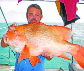 This great looking 14.5kg red emperor was caught on Osterlund Reef.