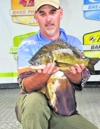 Taree's Brian Everingham picked up the Big Bream Prize at Mallacoota with his day one kicker fish (1.24kg).