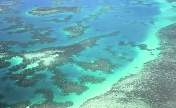 Flying over a far northern reef lagoon in September.