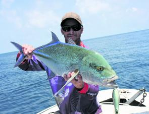 Bluefin trevally are as pretty as a picture and are very aggressive towards poppers in rarely fished waters.