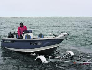 The Bar Crusher 535 XS slips off the trailer with ease – the Bar Catch makes launching and retrieving very easy indeed. The trailer is also perfect for the boat.