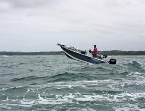 The agility of this boat between the waves was excellent – it is important to find the right gap in the waves when negotiating a barway and the nimble performance of the 535 was excellent.