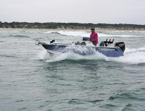 Spray deflection was great and soft landings were assured with this hull design – no bang, no bash and no soaking either.