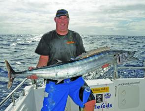 Along with big mahi mahi, wahoo are welcome Summer by-catch off the Coffs Coast.