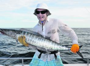 Jarred Flynn caught this wahoo in the green water on the way home. In hindsight, it too should've ended up in the icebox.