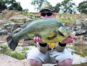 Tom Shaw with a 5kg yellowbelly from Loddon River. Photo courtesy of Tom Shaw.