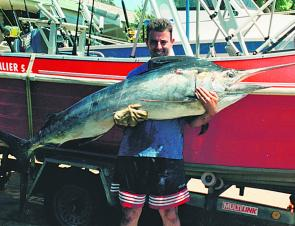 The author's first black marlin, a 60kg fish hooked only a few hundred metres from where the boat was launched at South West Rocks.