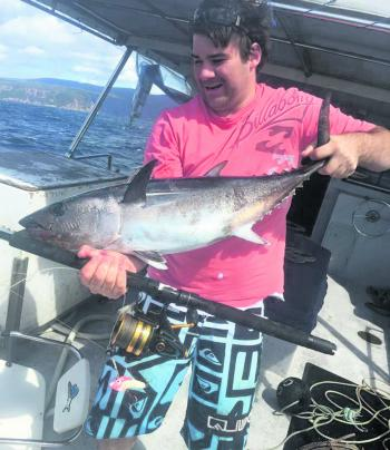 Michael Males from Pauletta found some tuna on a big Penn eggbeater.