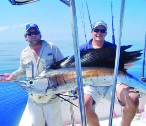 Ben Johnston, and mate Dave, with Ben's monster sailfish.