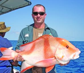 Late September, Shane Feeny was rapt with his big red emperor.