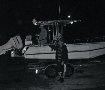 Be prepared if you plan to fish at night in a boat. Safety measures are the key to success.