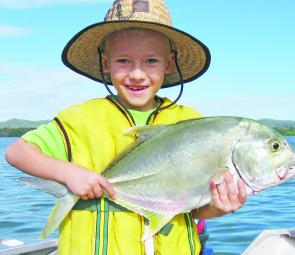 Connor Duffy with a Causeway Lake trevally.